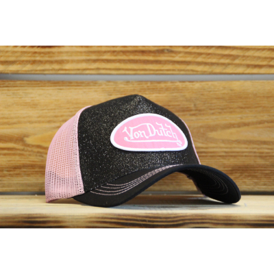 Casquette Trucker Von Dutch Flakes rose